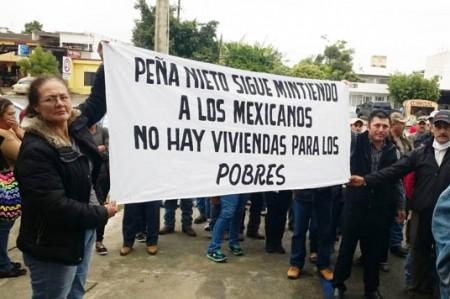 Protesta Central Campesina por falta de viviendas