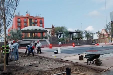 Ya hay avances en la Plaza Hidalgo