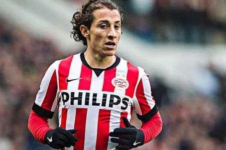 Andrés Guardado regresará en duelo de PSV ante Vitesse