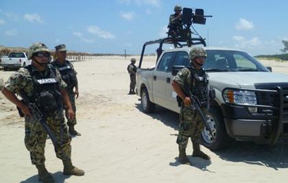 Despliegan policías en playas de Tamaulipas
