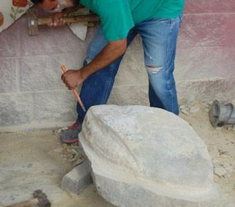 Esculpe  a la Virgen de Guadalupe en Reynosa