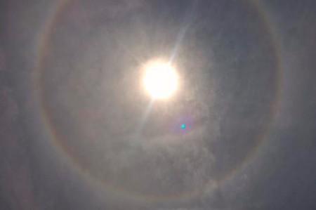 Se forma halo solar en Oaxaca