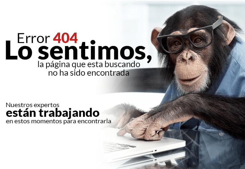 Error 404 lo sentimos, la página que esta buscando no ha sido encontrada