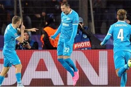 Zenit marcha perfecto en Champions League al vencer 3-1 a Lyon