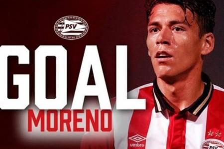 Héctor Moreno anota en goleada del PSV
