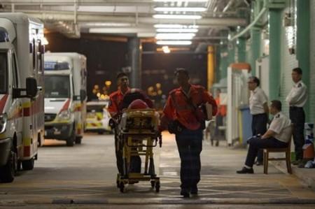 Al menos 124 heridos por choque de ferry en Hong Kong