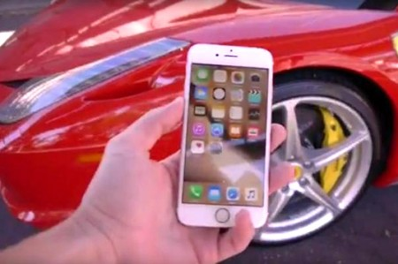 iPhone 6s resiste el paso de un Ferrari