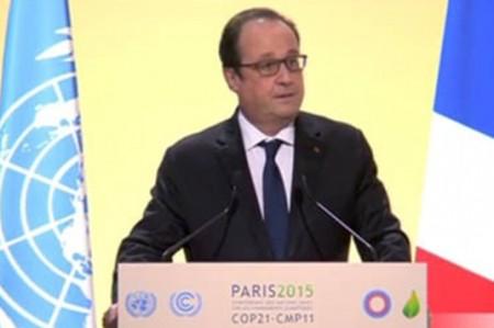 Acuerdo sobre clima implica superar intereses nacionales: Hollande