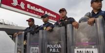Vigilan más de dos mil elementos seguridad en partido América-Santos