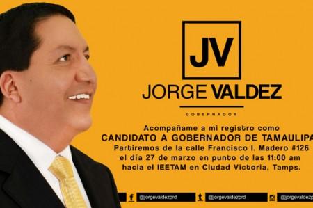 Jorge Valdez se registrará el 27 de marzo ante el IETAM