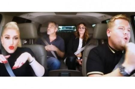 Gwen Stefani, Clooney y Julia Roberts cantan juntos