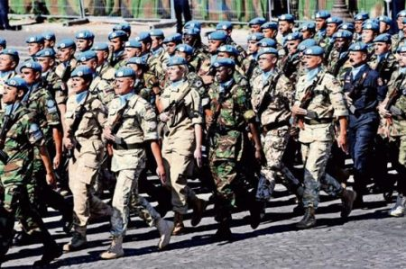 Renueva México primer pelotón de cascos azules
