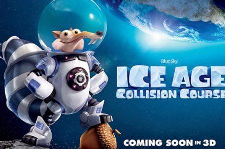 La era de hielo choque de los mundos, muy esperada por el público infantil