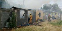 Niños juegan con fuego y provocan incendio en su hogar