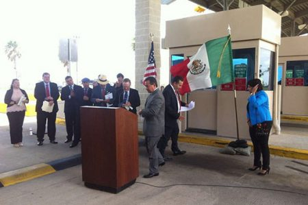 Inauguran carril para trailers vacíos en Mission, Texas