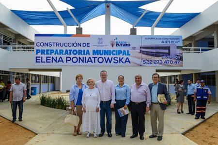Inaugura alcalde Canturosas segunda preparatoria municipal en Tamaulipas