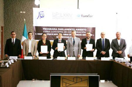 Firma Congreso convenio con Fundar y RedesQuintoPoder IDEA