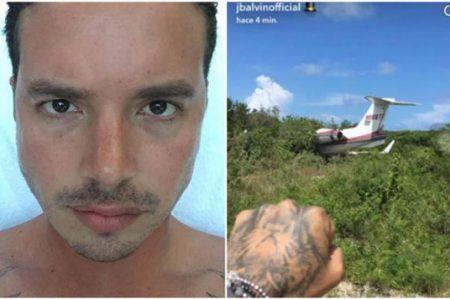 J Balvin sale ileso tras sufrir accidente en avión