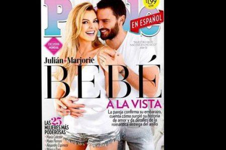 Marjorie de Sousa y Julián Gil serán papás