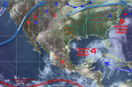 Reportan formación de tormenta 'Hermine' frente a Yucatán