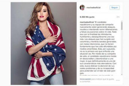 Alicia Machado responde a Trump sobre supuesto 'video sexual'