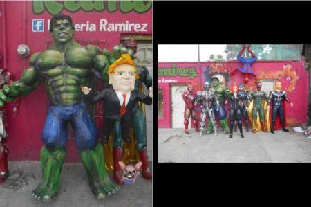 'Avengers' contra Donald Trump, en piñata