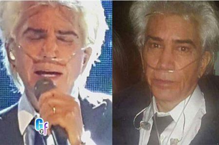 José Luis Rodríguez 'El Puma' canta con tanque de oxígeno