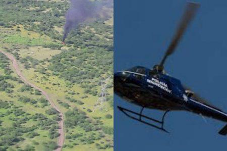Muere otro policía por derribo de helicóptero en Michoacán