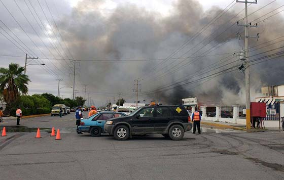Deja incendio seis intoxicados en Reynosa