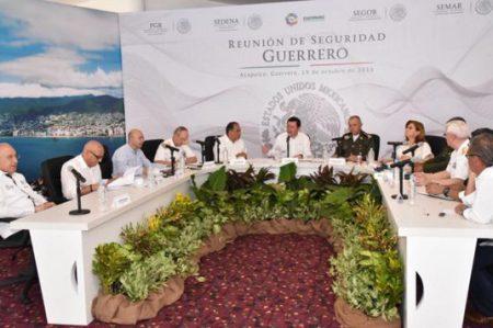 Gabinete de Seguridad se reúne en Guerrero
