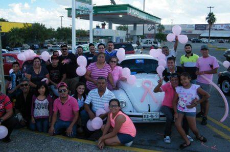 Volks Team contra  el cáncer de mama con 'rodada'