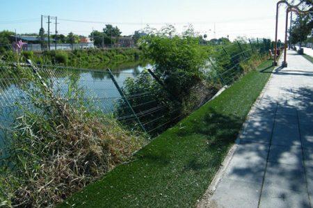 Parque Lineal deteriorado y en mal estado