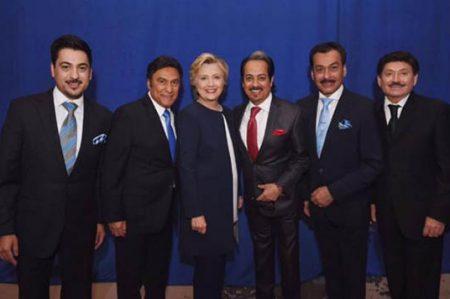Hillary se reúne con famosos del espectáculo de México en EU