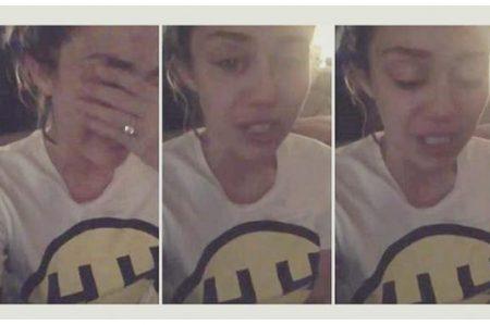 Miley Cyrus llora por derrota de Hillary Clinton