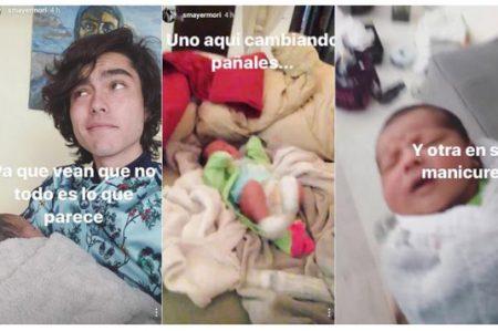 Sergio Mayer Mori muestra el rostro de su hija