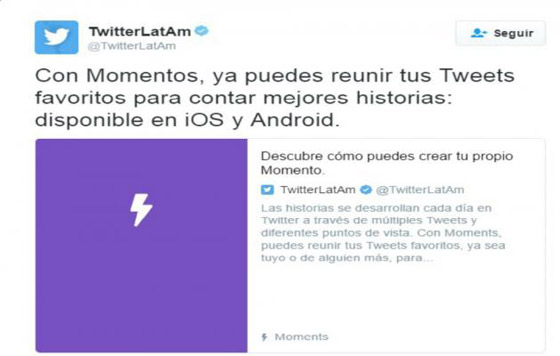 Ya puedes hacer tus Twitter #Moments desde el celular