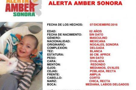Alerta Amber por robo de niño con hidrocefalia