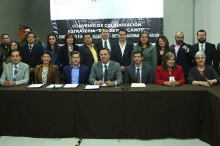 Congreso de NL y el INM firman convenio 'Somos Mexicanos'