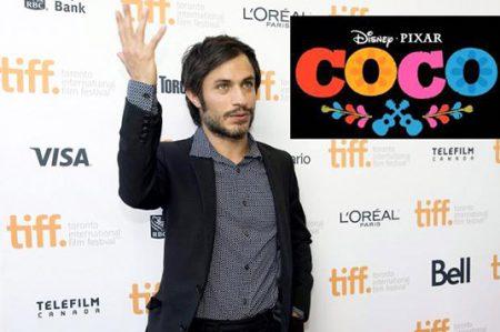 Gael García prestará su voz en 'Coco', cinta de Disney-Pixar