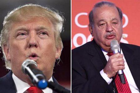 Presidente electo de EU cena con Carlos Slim