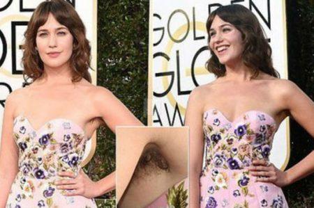 Lola Kirke mostró sus axilas sin depilar en los Globos de Oro