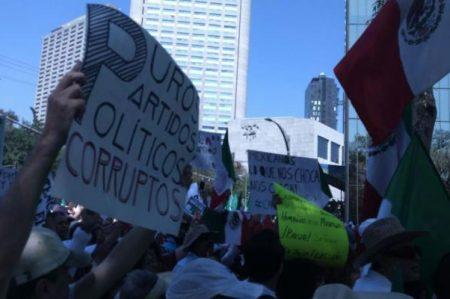 Inicia marcha 'Vibra México' en Paseo de la Reforma