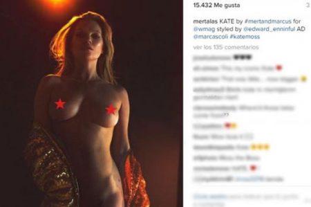 Kate Moss posa desnuda en revista