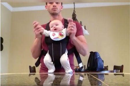¿Qué pasa cuando dejan al bebé con papá? (VIDEO)