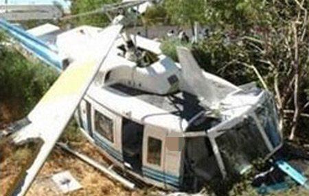 Se desploma helicóptero en Veracruz; no se reportan muertos
