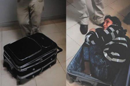 Mujer intentó ingresar ilegalmente a Turquía en una maleta (VIDEO)