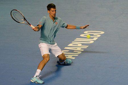 Debuta Djokovic con victoria en el Tenis de Acapulco (GALERIA)