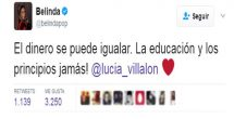 Belinda envía mensaje de apoyo a ex de Javier Hernández