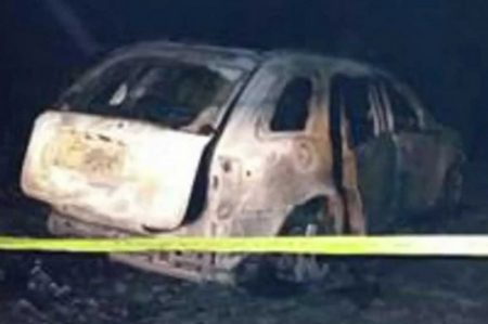 Descubren 5 cuerpos calcinados dentro de un auto en Chilapa
