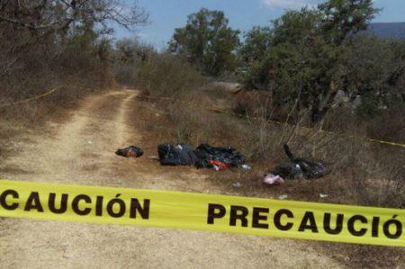 Hallan 11 bolsas con restos humanos en Chilapa, Guerrero